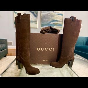GUCCI knee high boots 100% Authentic